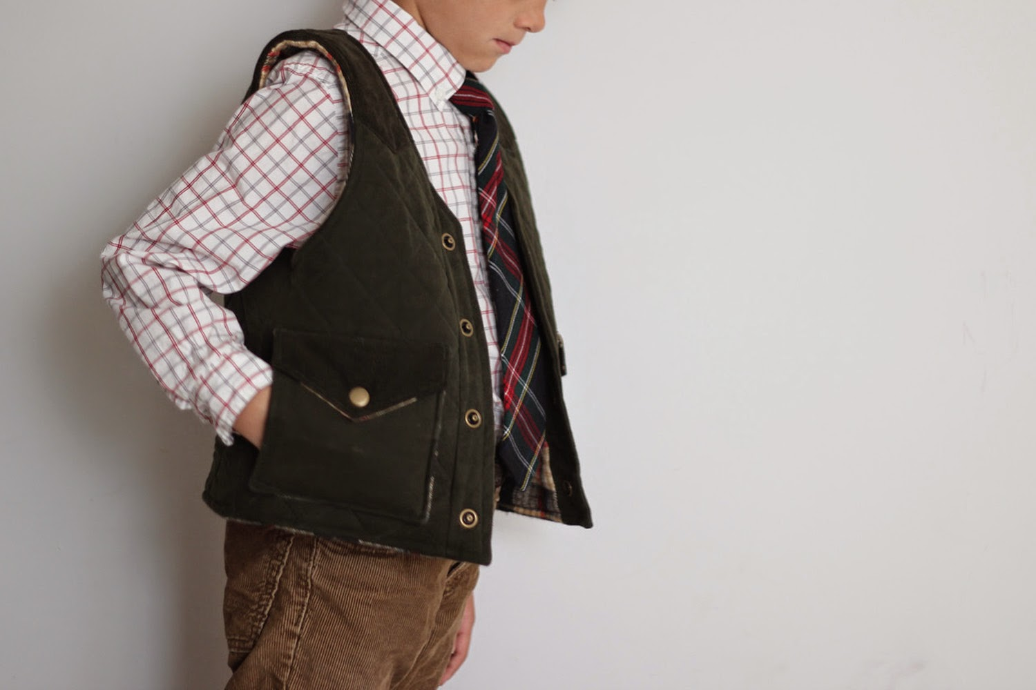 SweetKM STYLO Restyled Quilted Vest For Christmas