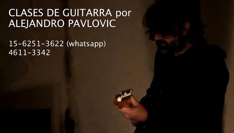 CLASES DE GUITARRA por ALEJANDRO PAVLOVIC
