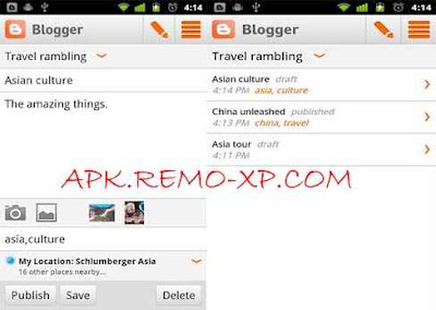 Blogger android