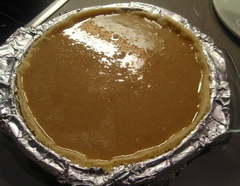 Preparación de la tarta de castañas