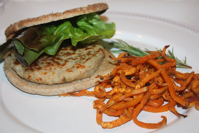 vegan white bean burger
