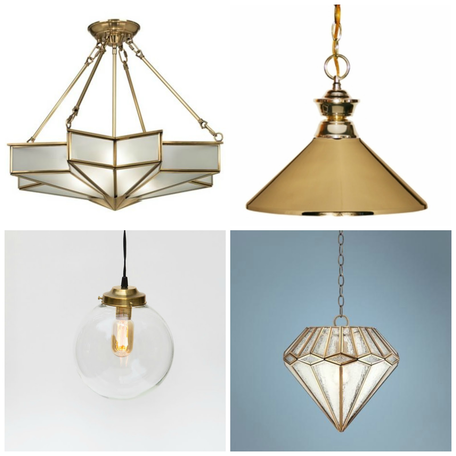 Brass Chandelier Ceiling Lights : Rosa beltran design brass pendant ceiling light round up