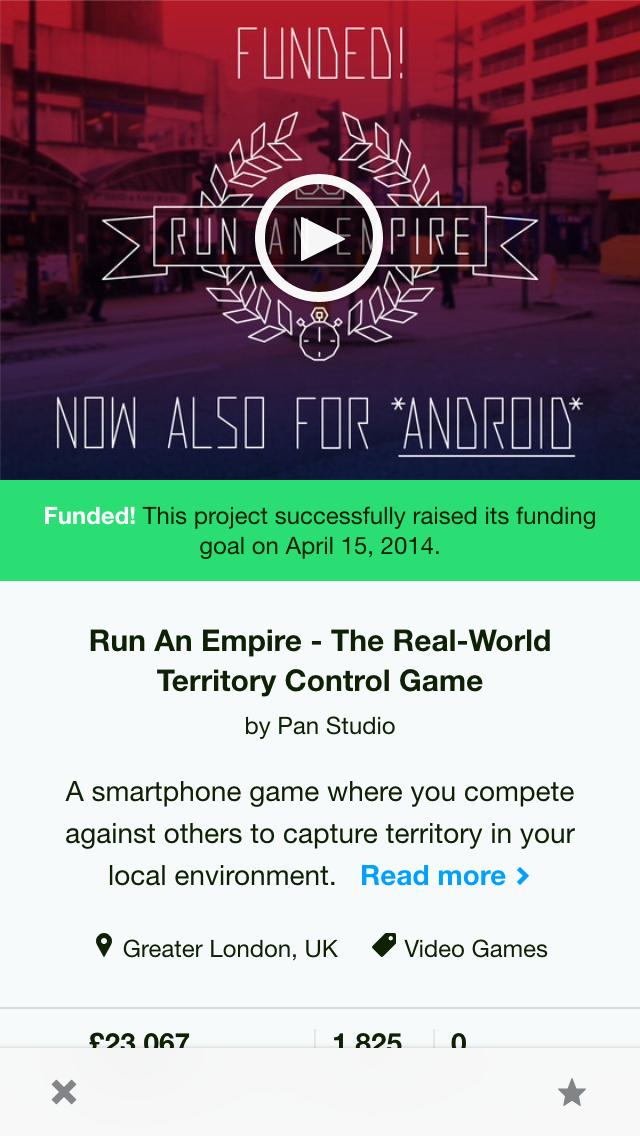 kickstarter app eseteban ios android