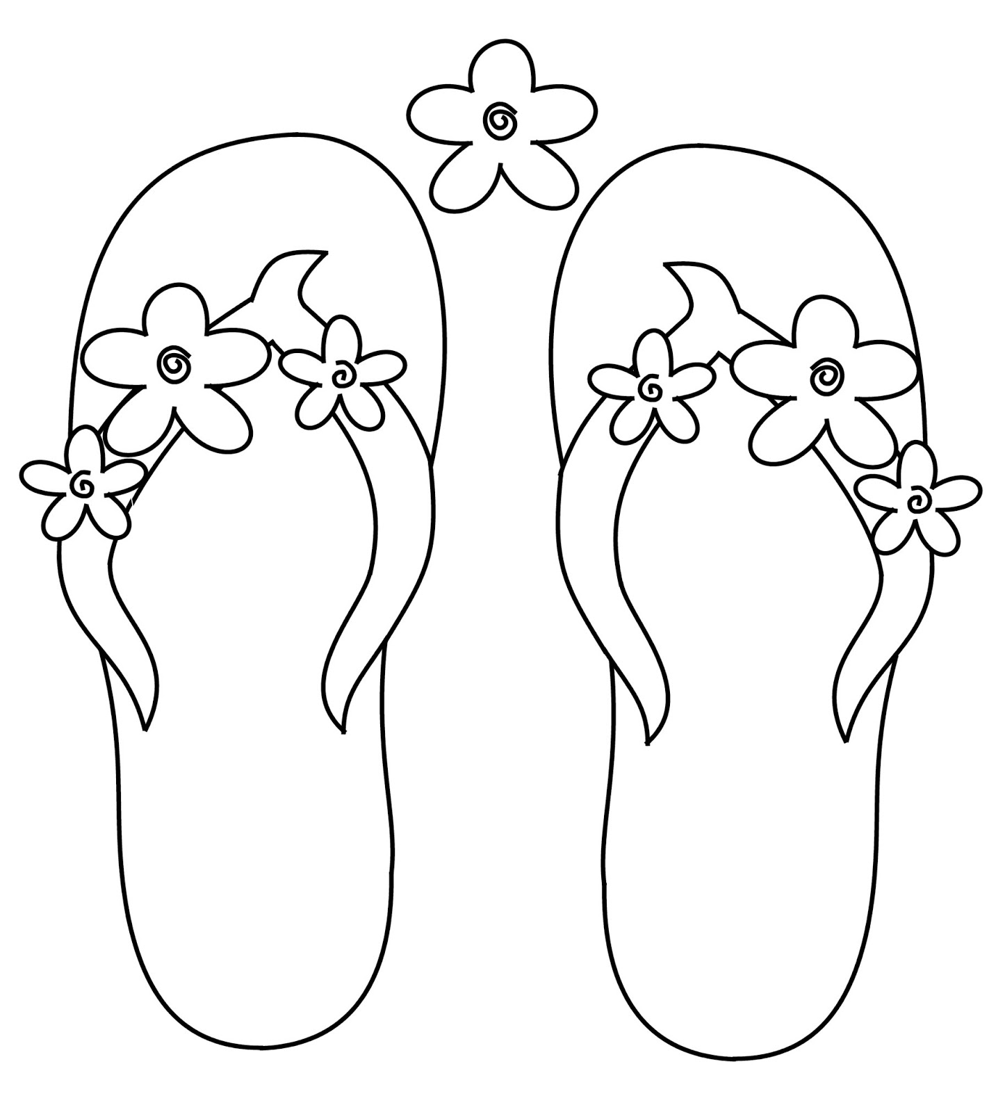 Scribbles Designs Challenge Blog Freebie Friday Flower Flip Flops