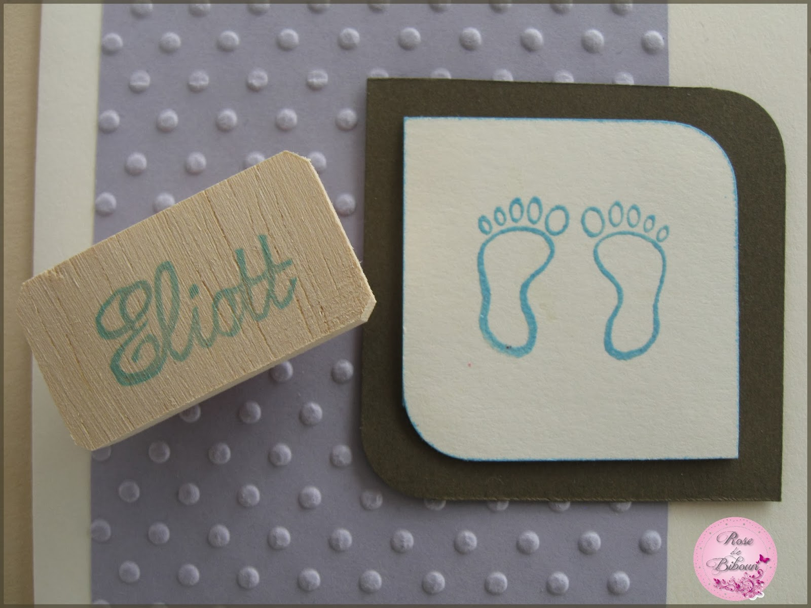 rose de biboun un tampon grav la main pour une naissance. Black Bedroom Furniture Sets. Home Design Ideas