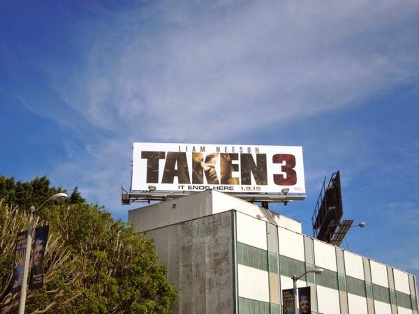 Taken 3 billboard