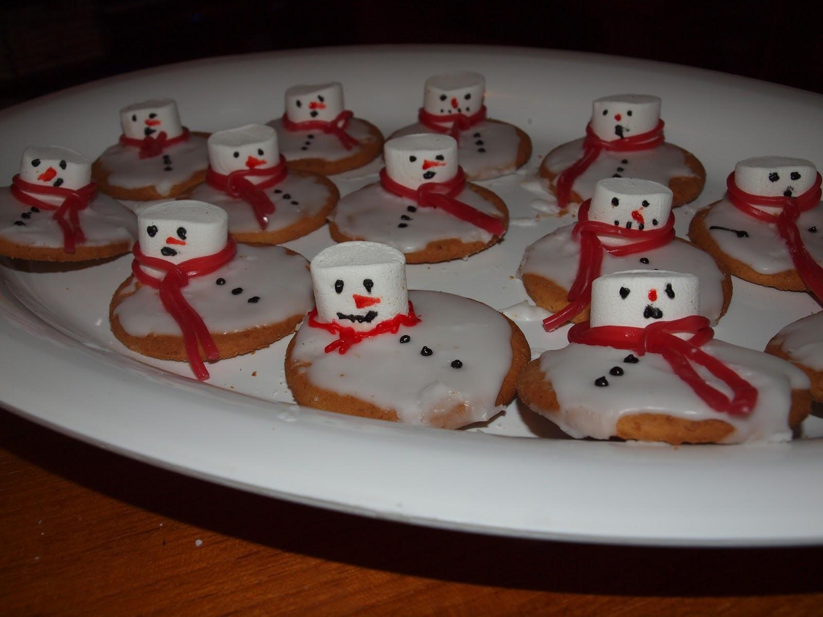 Jen S Place A Bit Late Melted Snowman Cookies