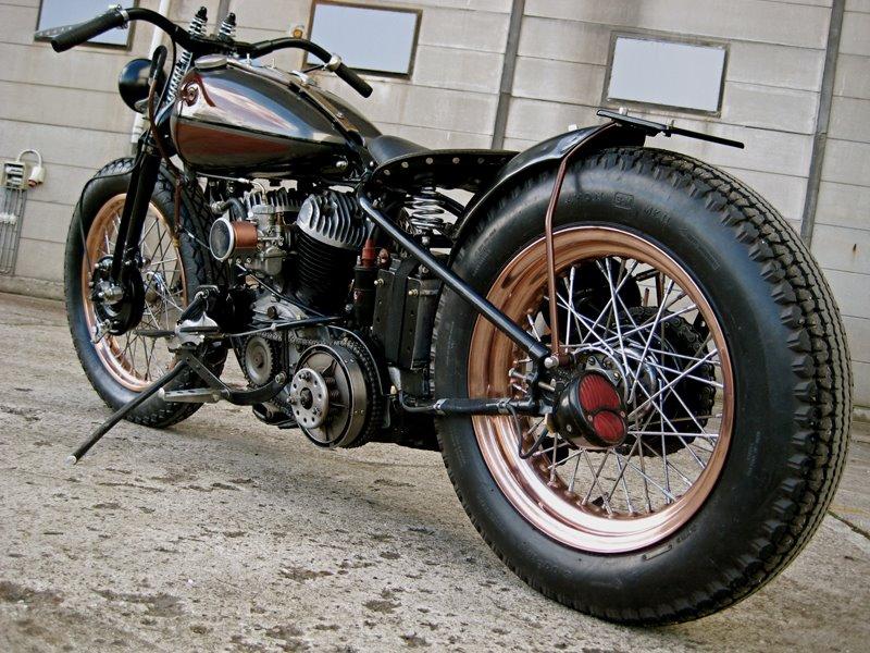 Old School Harley-Davidson Bobbers