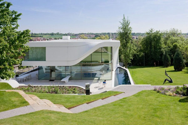 Contemporary House Near Vineyard Stuttgart Germany Most