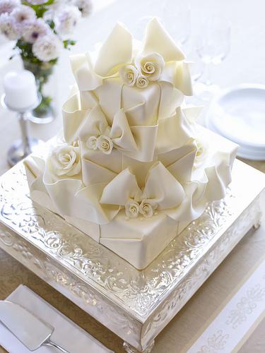 bliss white wedding cakes