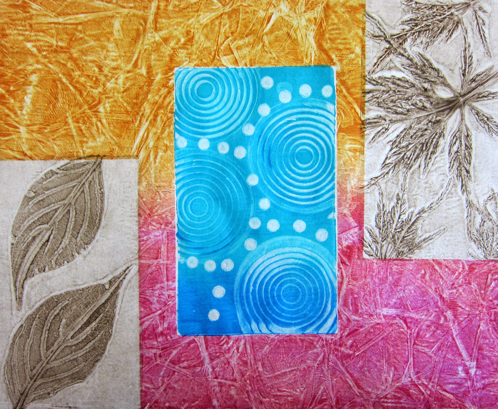 printing with gelli arts gelli plate printing with diy found textures - Pictures For Printing