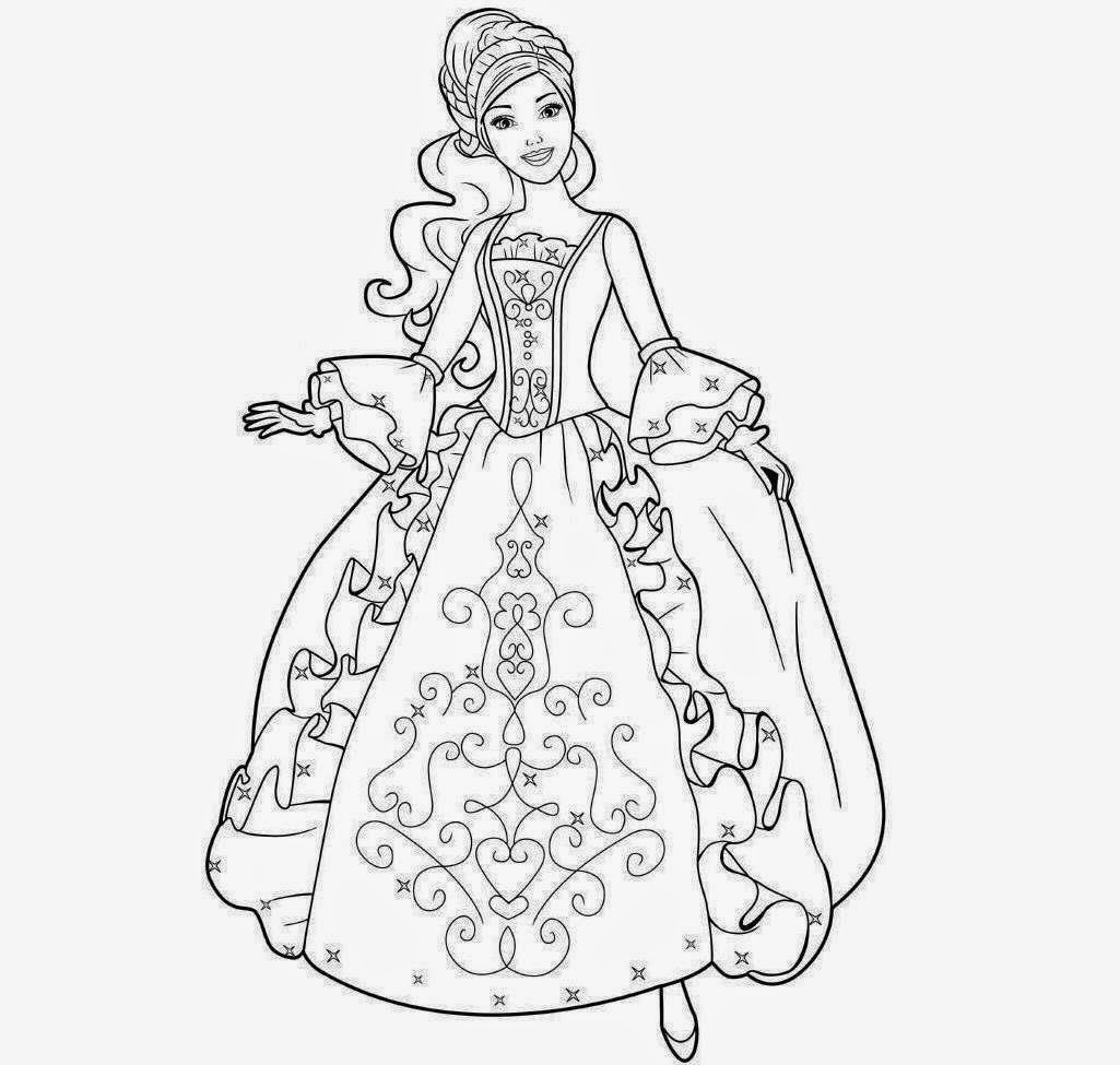 colour drawing free wallpaper  barbie coloring drawing