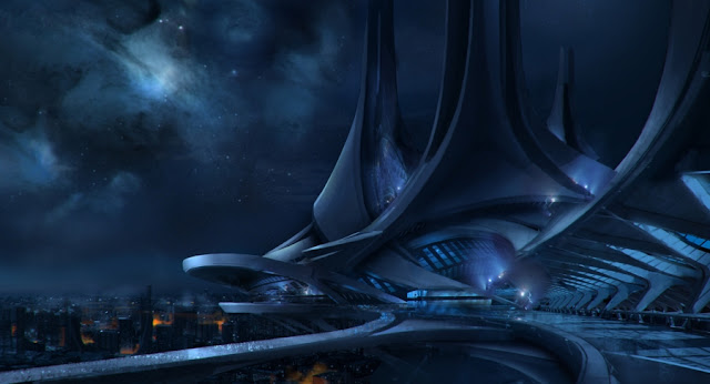 Thessia concept art mass effect