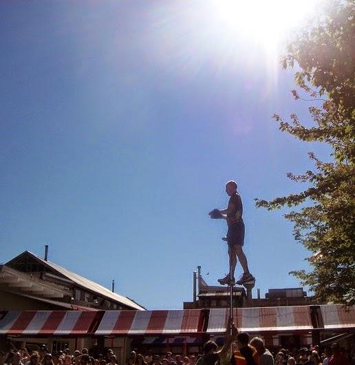 Street circus performer