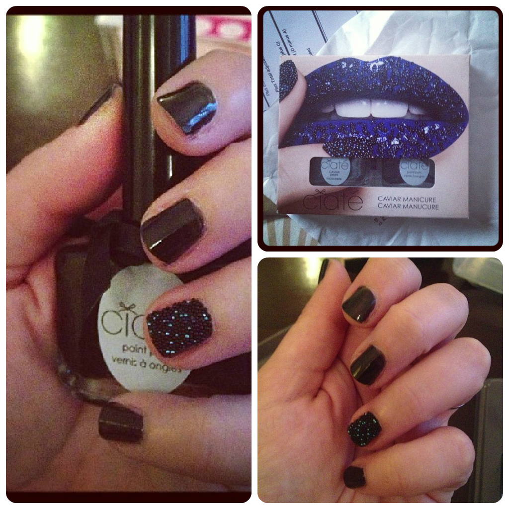 BEAUTY | Black Pearl Caviar Nail Set by Ciaté