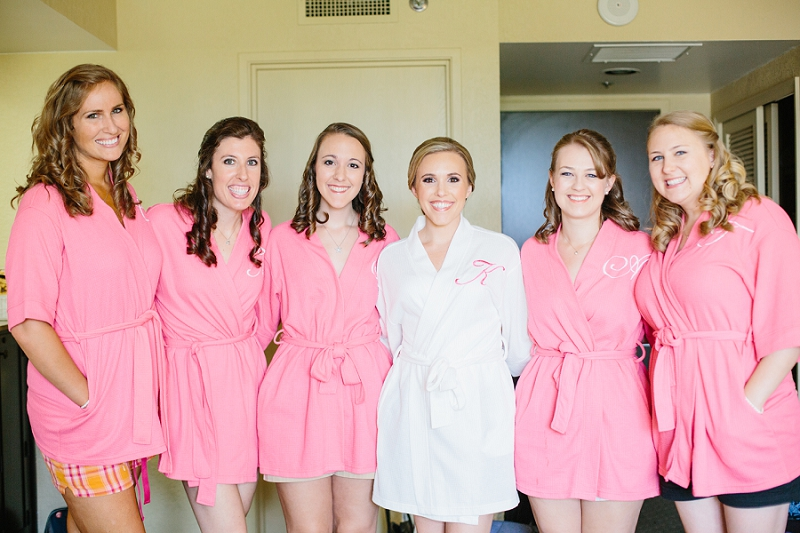 bride and bridesmaids matching robes