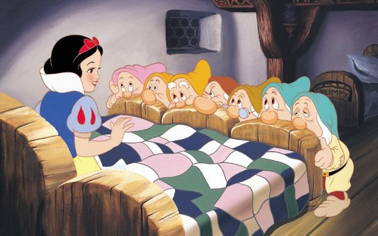 the seven dwarfs sleeping