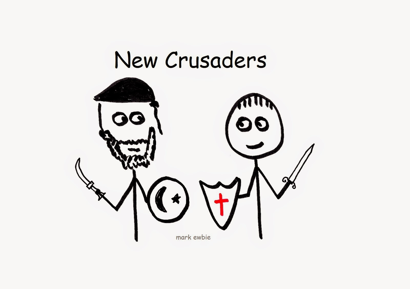 Moslem and Christian Crusade fighters