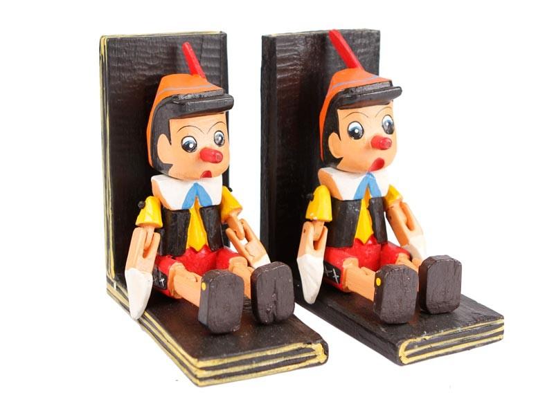 Lindos aparadores de livros Pinoquio