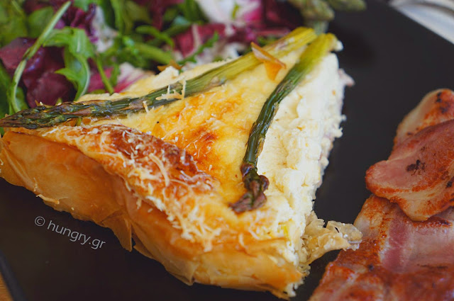 Asparagus and Smoked Bacon Quiche