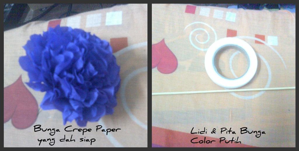 DIY- Mari Belajar Buat Bunga Telur Crepe Paper..