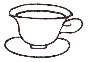 紅茶・ティーカップのイラスト(カフェ)線画
