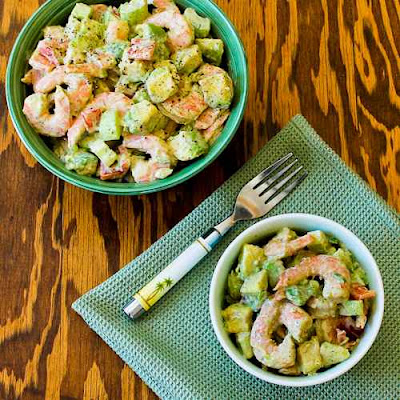 Shrimp, Avocado, and Red Pepper Salad found on KalynsKitchen.com.