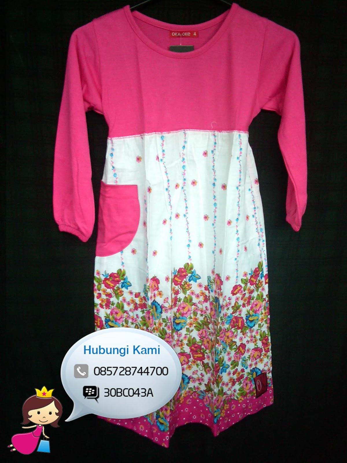 Gambar Model Baju Gamis Anak Terbaru Oka Oke Baju Gamis