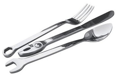 Wrenchware - tool inspired silverware