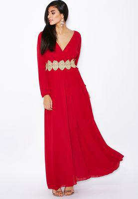 Robe longue classe femme