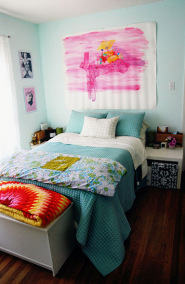 ideas for bedrooms light blue and pink