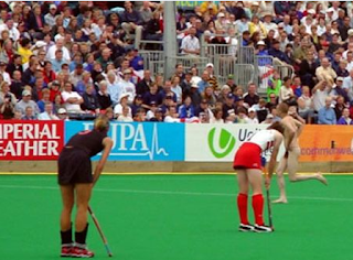 funny picture naked man during hockey match