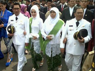 Pelantikan Ridwan Kamil - Oded M. Danial (foto detik)