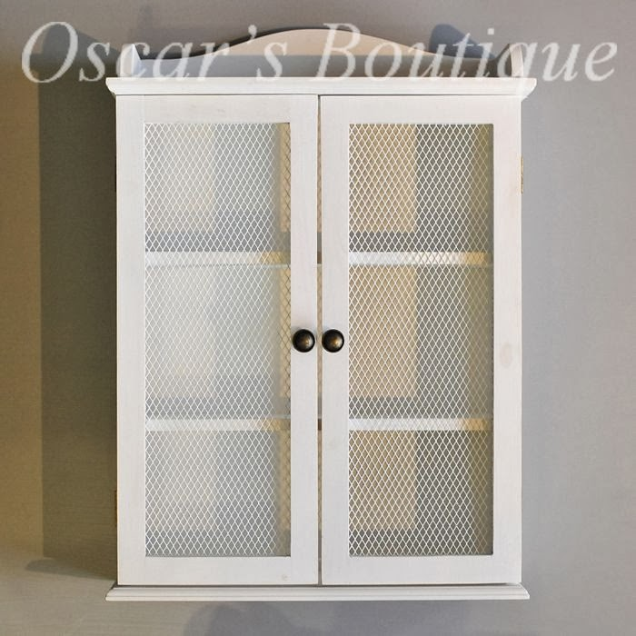 Victorian Bathroom Wall Cabinet White