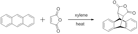The product that will be produced with anthracene and