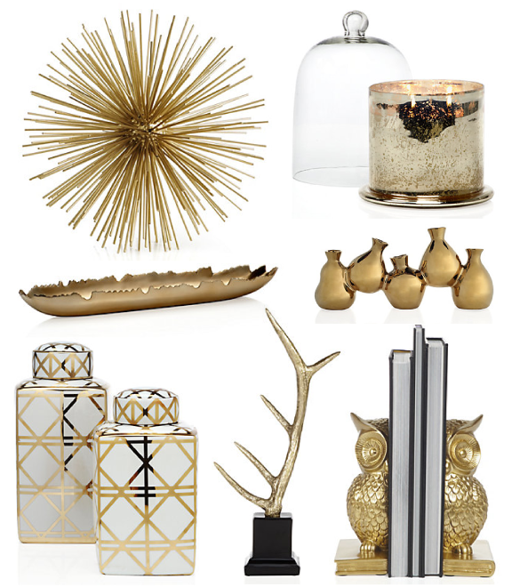 Birdie to be golden accessories for Gold home decorations