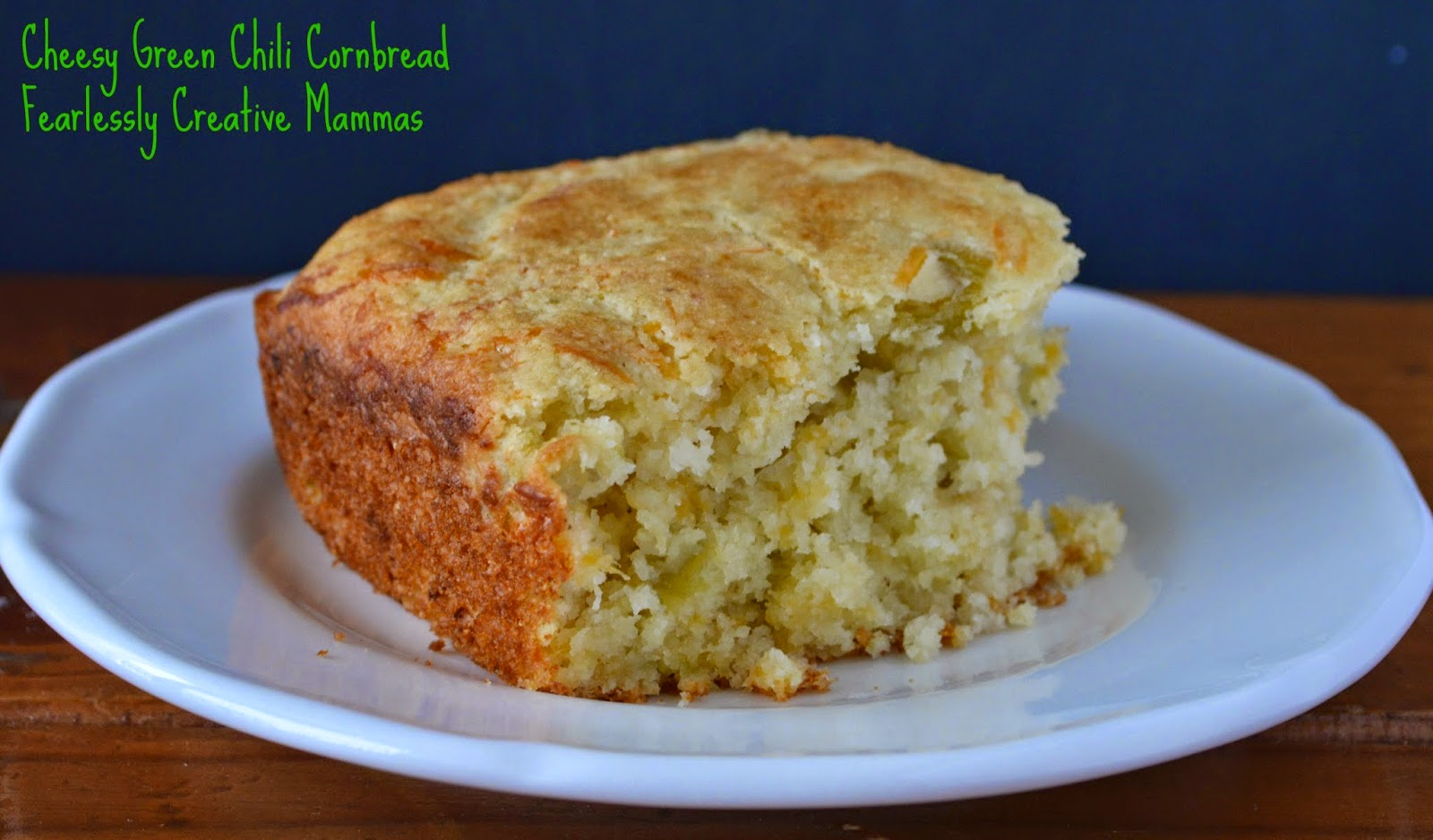 Cornbread with an amazing cheesy and green chili flavor