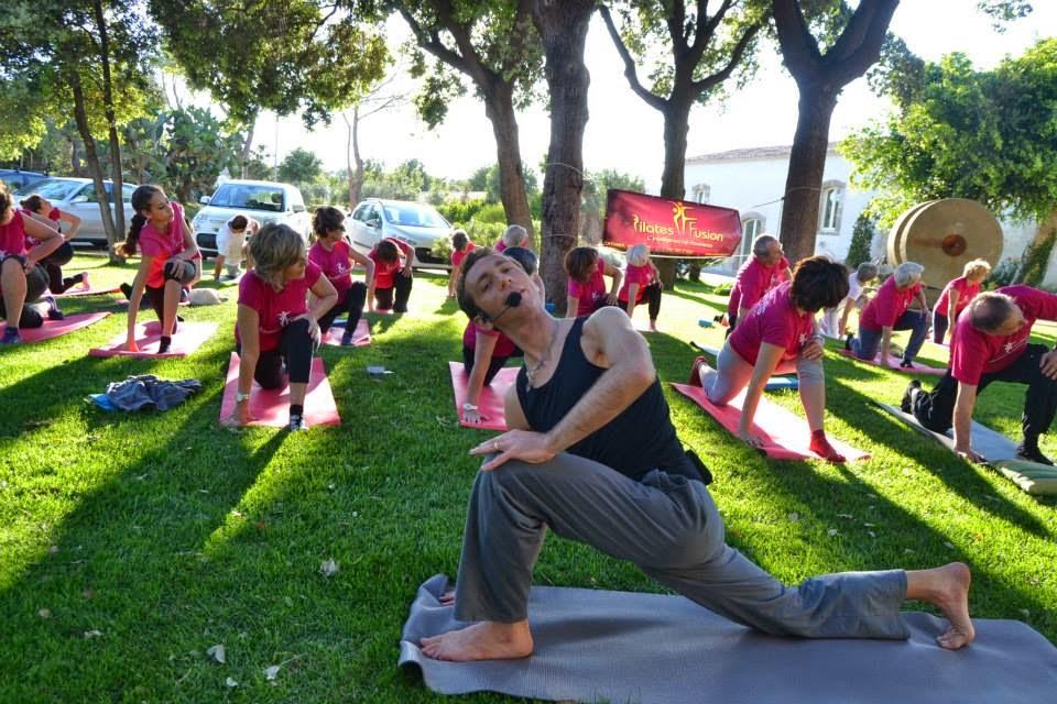 Un momento del Pilates Retreat 2014