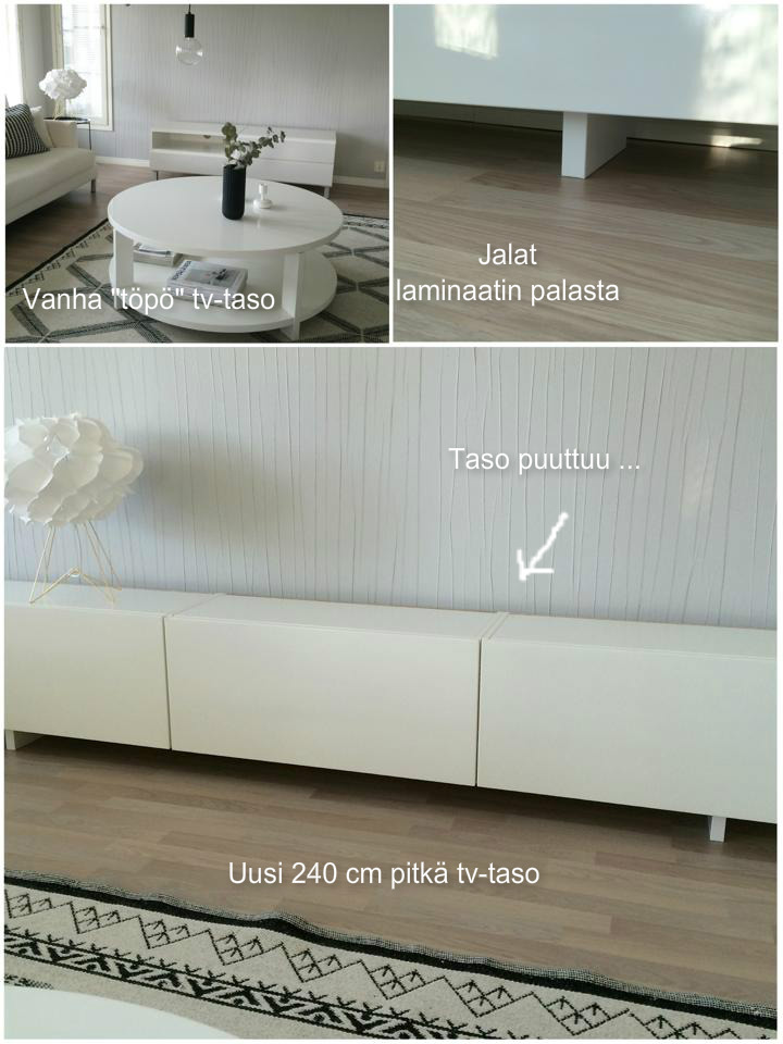IDIS & INTERIÖÖRI Raffimpi olohuone tekeillä + uusi tv taso