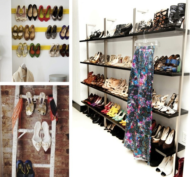 stylish shoe shelving
