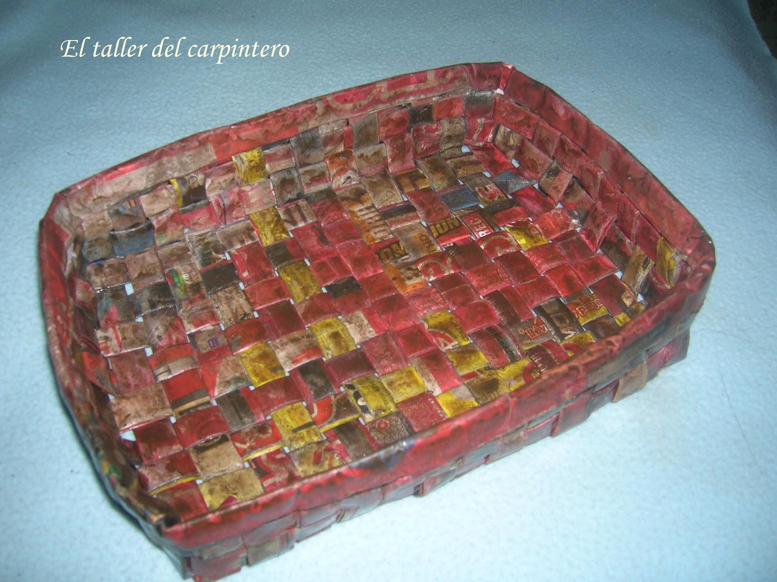 El taller del carpintero cesta de papel - Cestas de papel de periodico paso a paso ...
