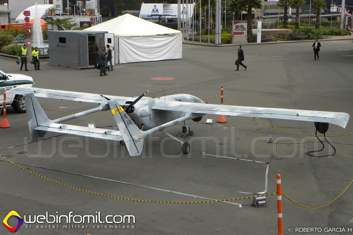 UAV Iris de la Fuerza Aérea Colombiana fabricado por la CIAC e Indumil.