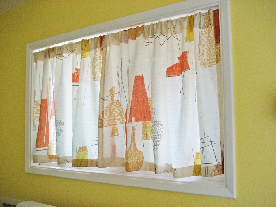 Vintage finds mid century and more at evie s haus vintage curtains for my mid century ranch