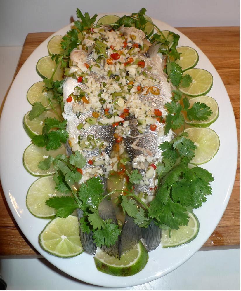 Amporn's Thai Kitchen: Thai Steamed Bronzini Fish With