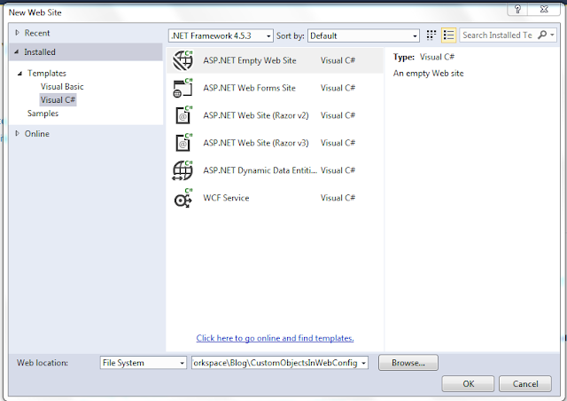 Step 2 of How to Add Store Custom Objects in Configuration File(web.config & app.config) in ASP.Net & C#.Net