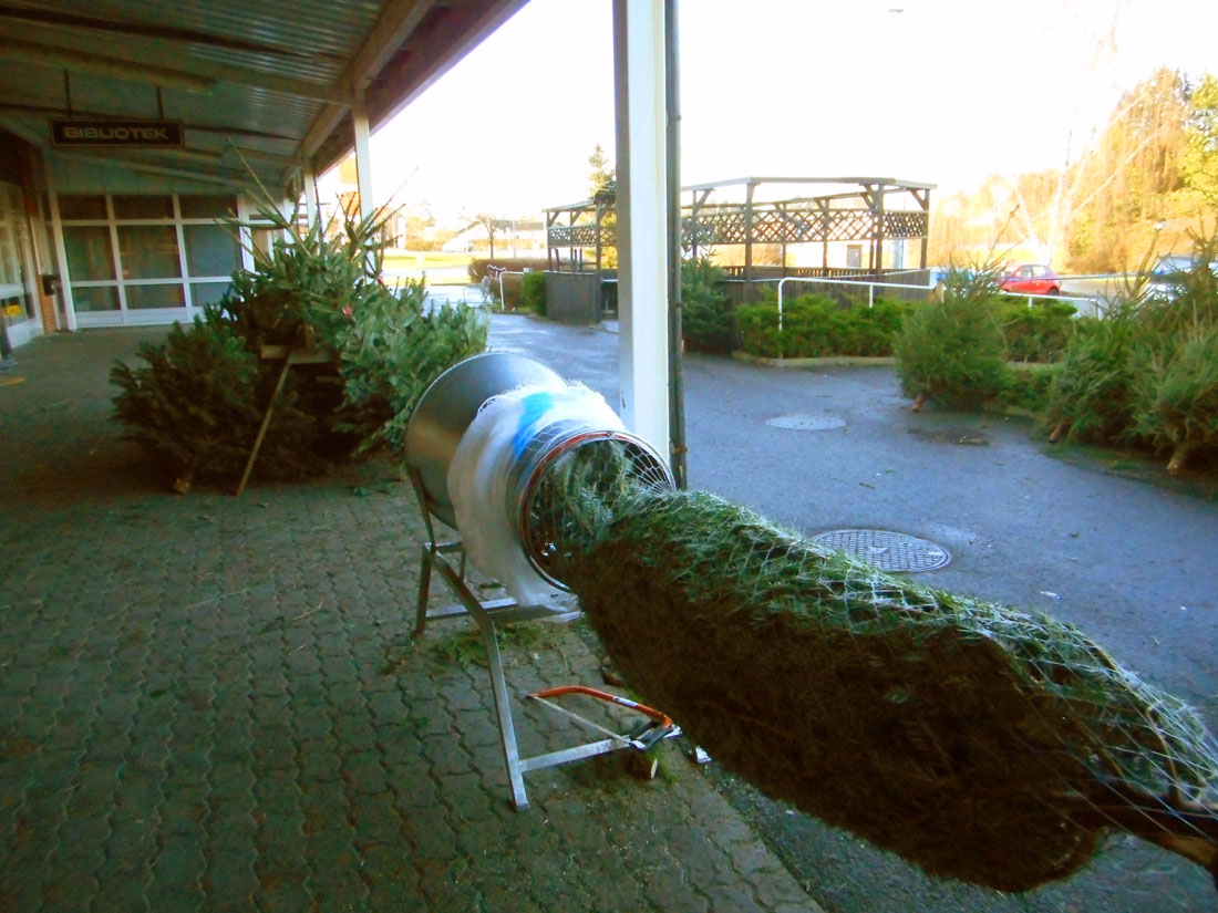 Impacchettamento albero di Natale