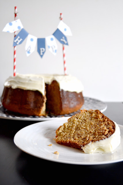 banana bundt cake with cream cheese frosting recipe