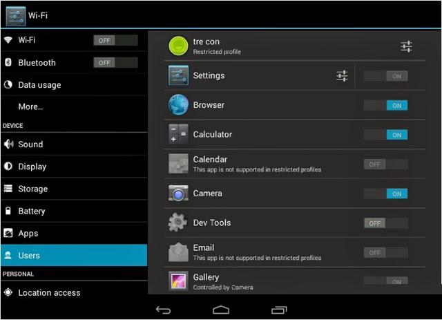 Hướng dẫn thiết lập hạn chế truy cập trên Android 4.3