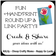 handprint art link party round up