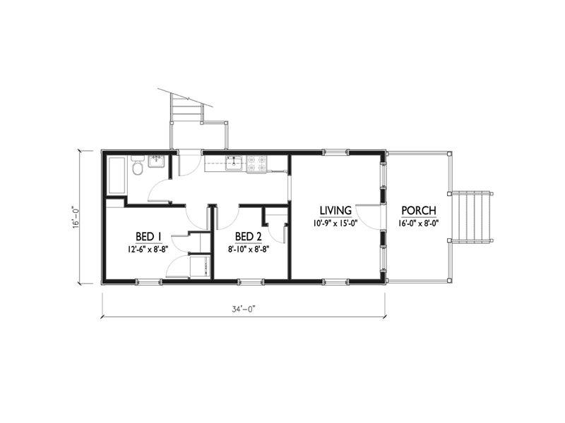 Plano de casa de 50 metros cuadrados for Casa moderna 50 metros cuadrados